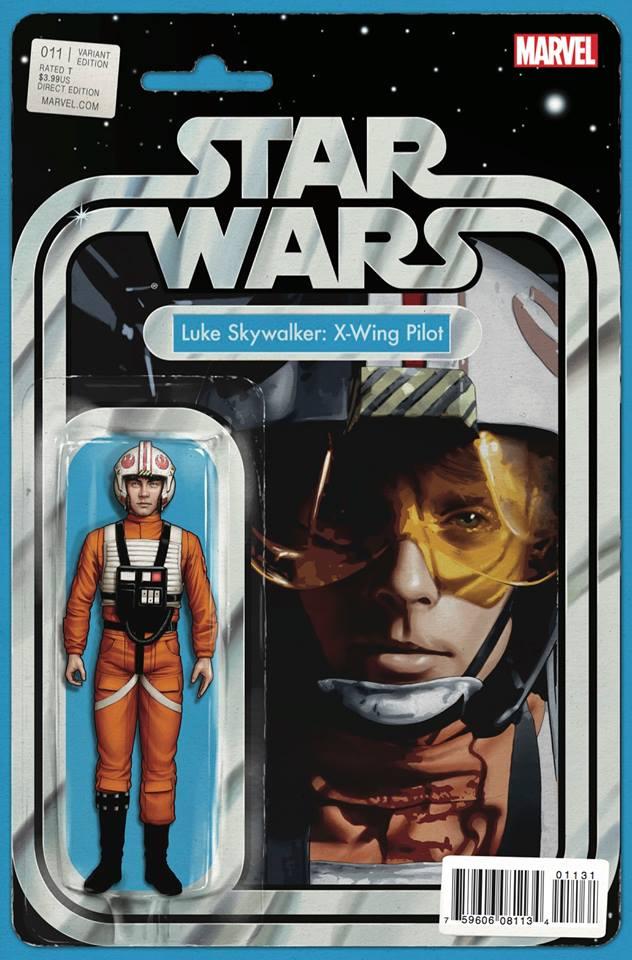 Star Wars 11 (Marvel 2015) - Action Figure Variant - Luke Skywalker: X-Wing Pilot