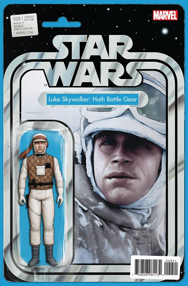 Star Wars 29 (Marvel 2015) - Action Figure Variant - Luke Skywalker Hoth Battle Gear