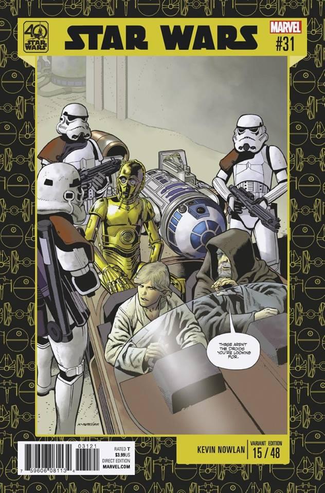 Star Wars 31 (Marvel 2015) - 40th Anniversary Variant (Kevin Nowlan)