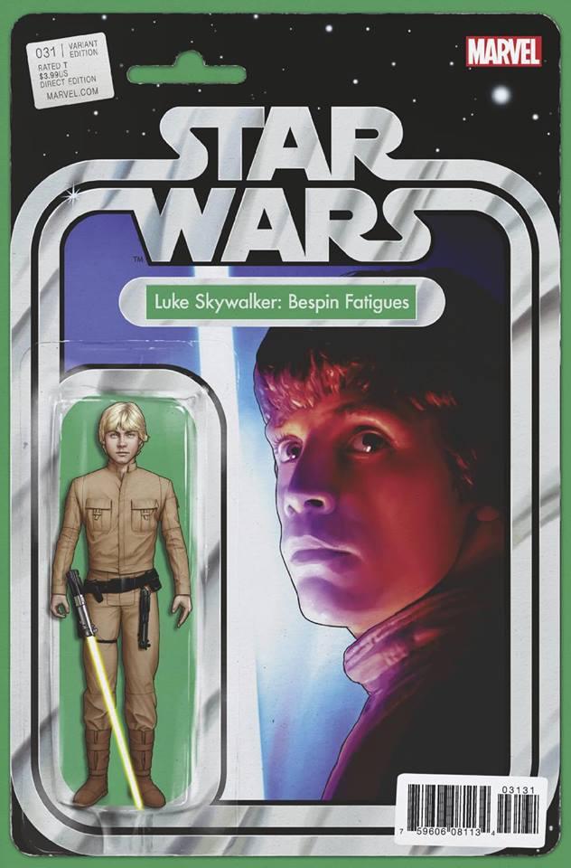 Star Wars 31 (Marvel 2015) - Action Figure Variant: Luke Skywalker, Bespin Fatigues