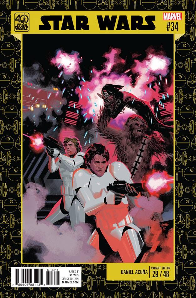 Star Wars 34 (Marvel 2015) - 40th Anniversary Variant (Daniel Acuna)