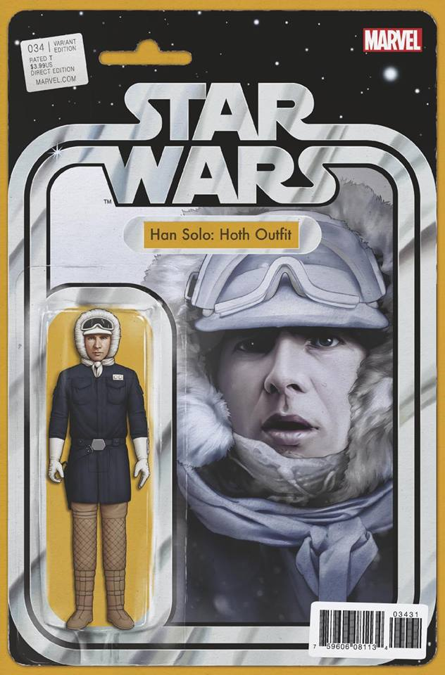 Star Wars 34 (Marvel 2015) - Action Figure Variant - Han Solo (Hoth Outfit)