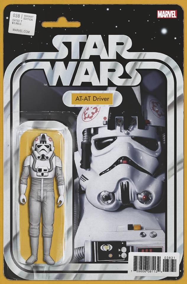 Star Wars 38 (Marvel 2015) - Action Figure Variant - AT-AT Driver