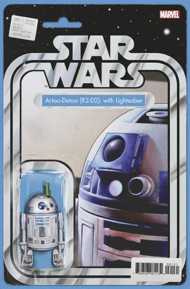 Star Wars 61 (Marvel 2015) - Action Figure Variant - R2-D2 (with Lightsaber)